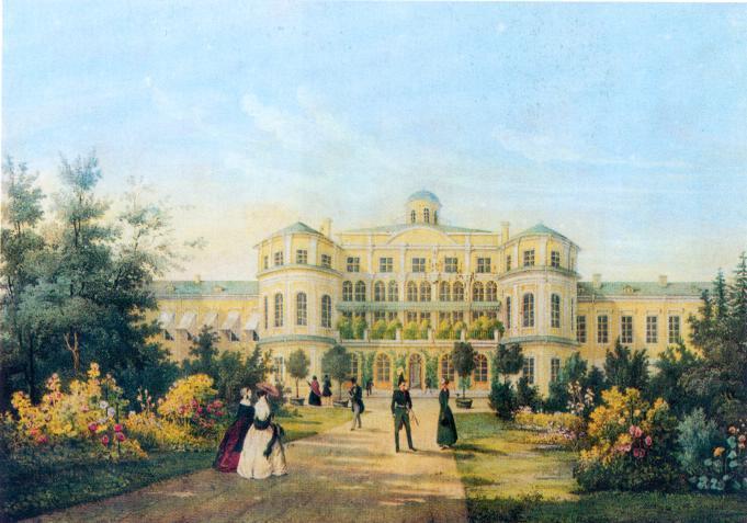 И.И. Мейер. Знаменский дворец близ Петергофа. 1845 г.