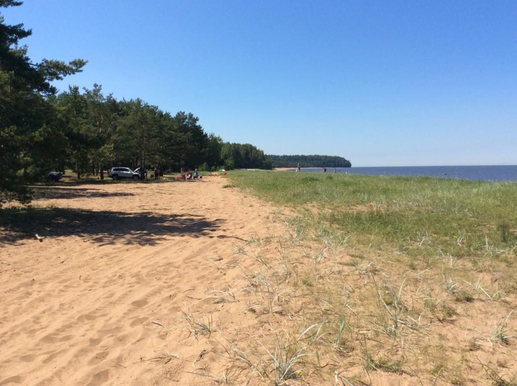 Пляж в Лебяжьем