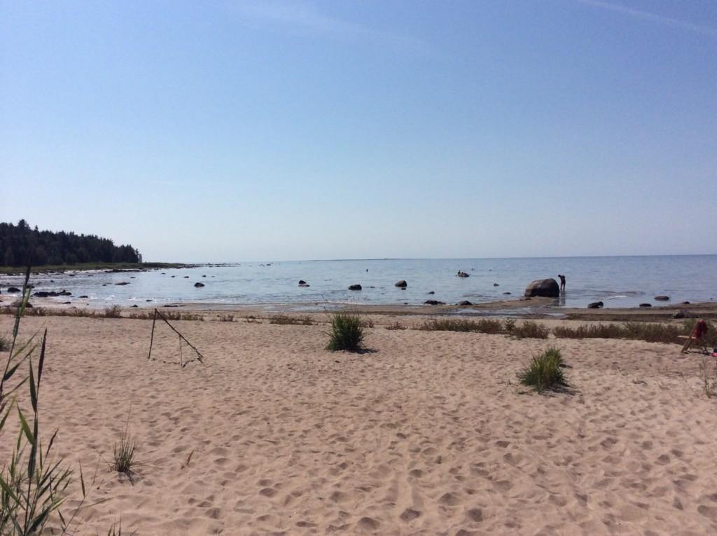 Пляж в деревне Конново