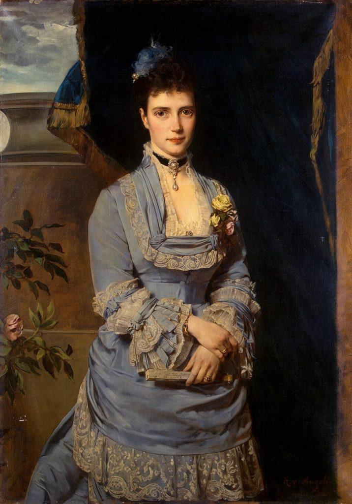 Императрица Мария Федоровна. Портрет работы Генриха фон Ангели