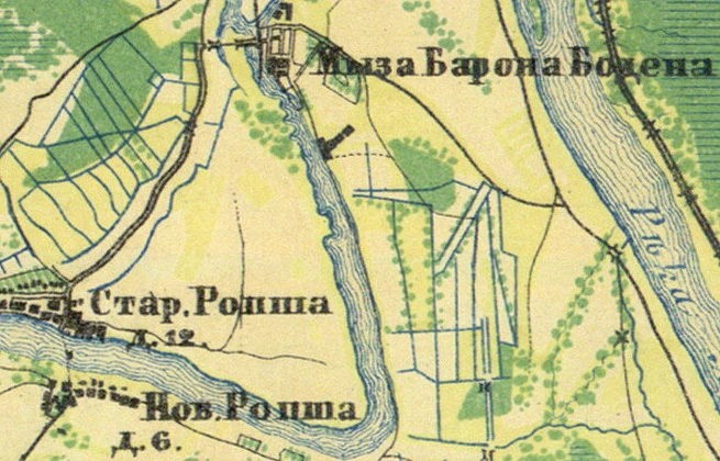карта Санкт-Петербургской губернии 1860 года.