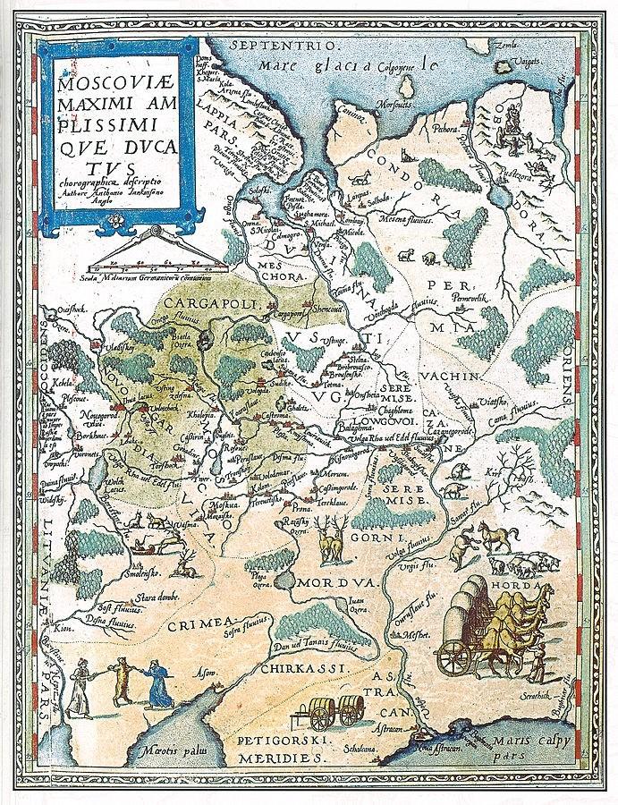Карта Московии. 1593 год.