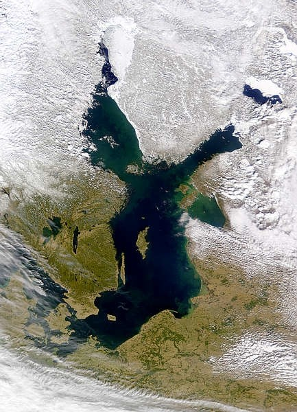 Балтийское море . Вид из космоса.