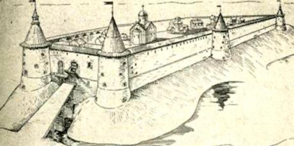 Копорье XVI века. Реконструкция А. К. Филиппова