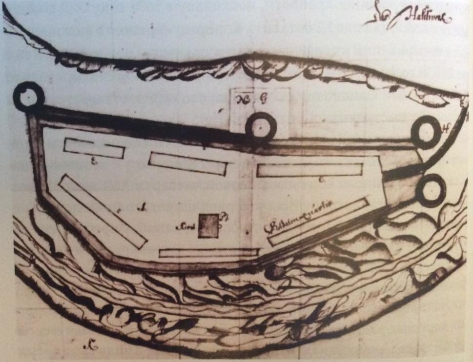 Копорская крепость. Шведский план 1645 г.