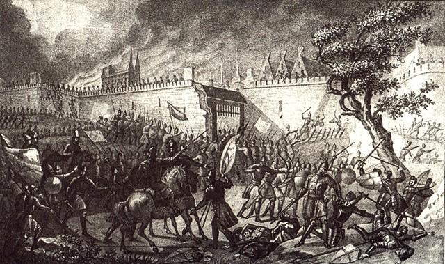 Взятие Нарвы Иваном Грозным. Б.А. Чориков. 1836 г.