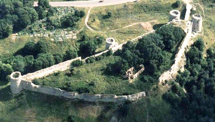 Копорская крепость. Крепость Копорье. Вид сверху.