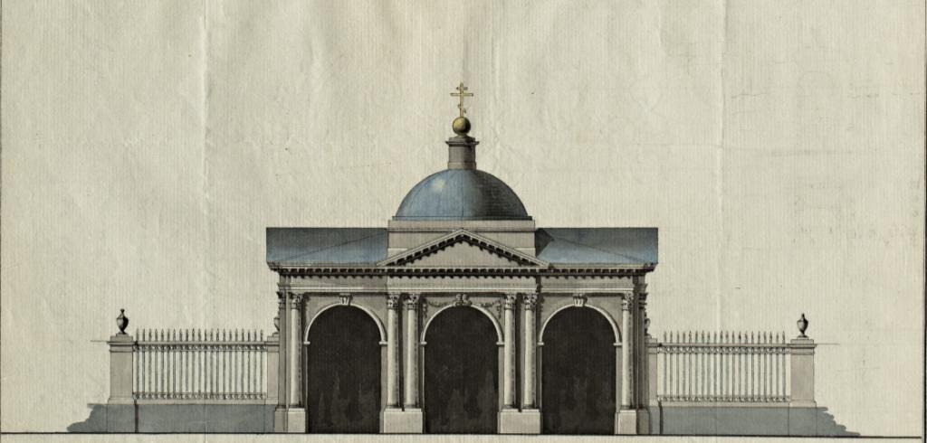Фасад для ограды церкви Св. Петра по Петергофской дороге