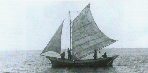 Лайба. Парусное судно на Балтийском море.