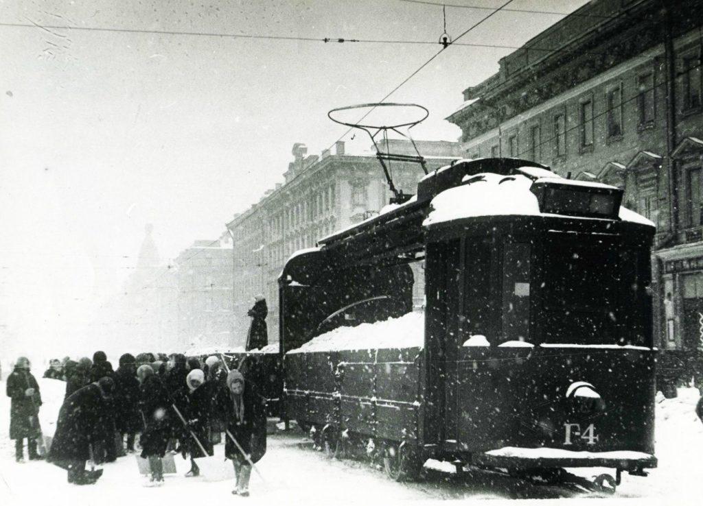 Блокадный трамвай. Ленинград.