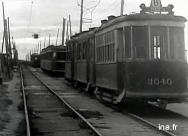 Блокадный трамвай. Петергофское шоссе. Стрельнинская трамвайная линия.