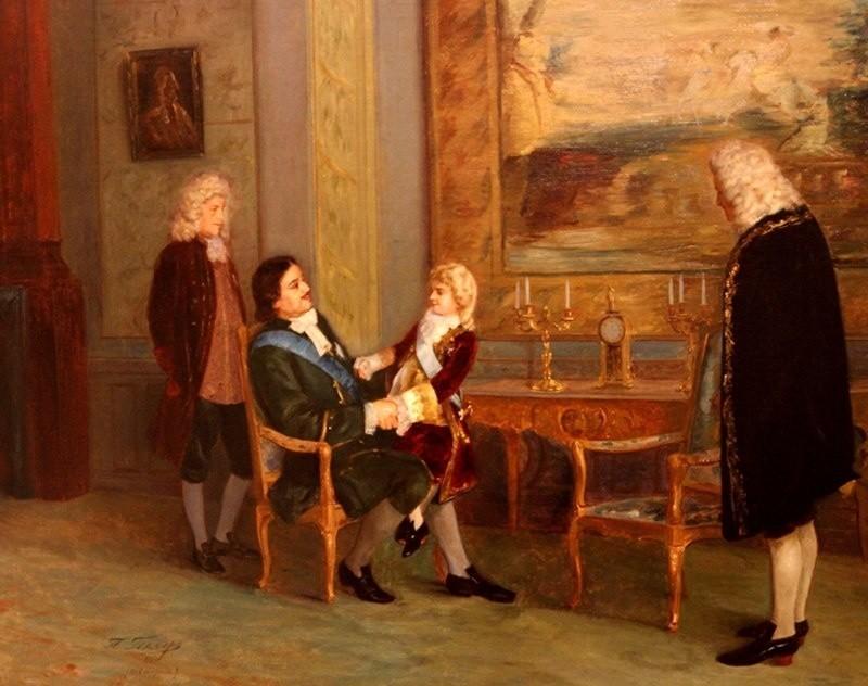 Петр Геллер - 1903г. - Петр Первый и юный король Франции