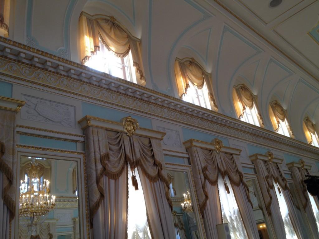 Голубой зал. Фрагмент интерьера