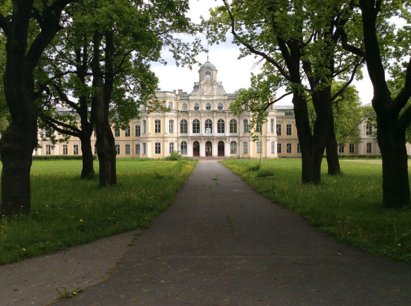 Дворец великого князя Николая Николаевича (Усадьба Знаменка). Вид с южной стороны Верхнего парка