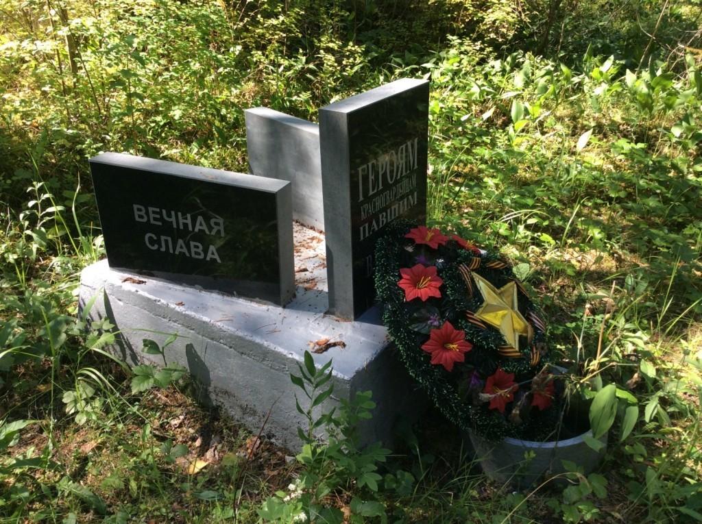 Саркюля. Братская могила на местном кладбище