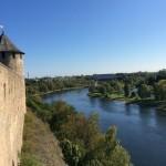 Вид на Нарову с Ивангородской крепости
