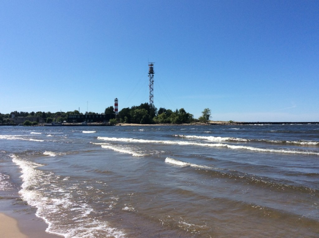 Устье Наровы. Совсем рядом - эстонский берег