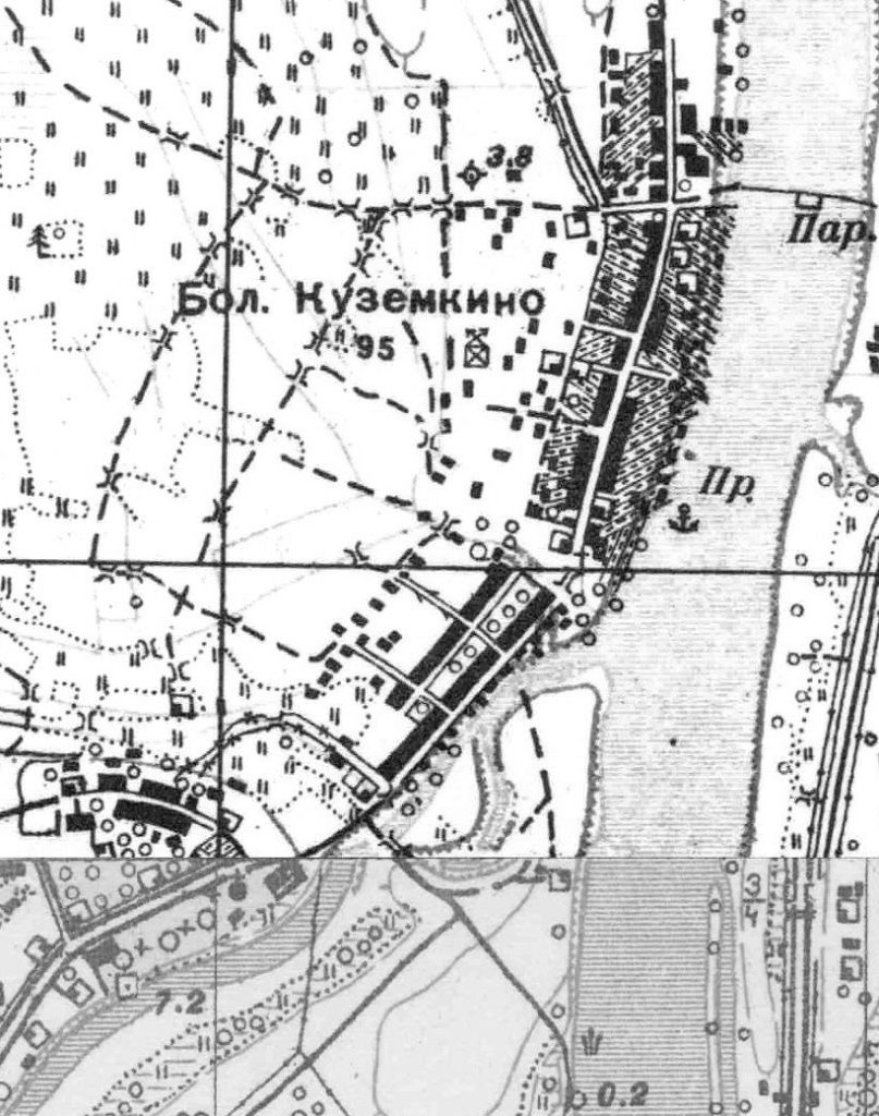 План деревни Большон Куземкино. 1930 г.