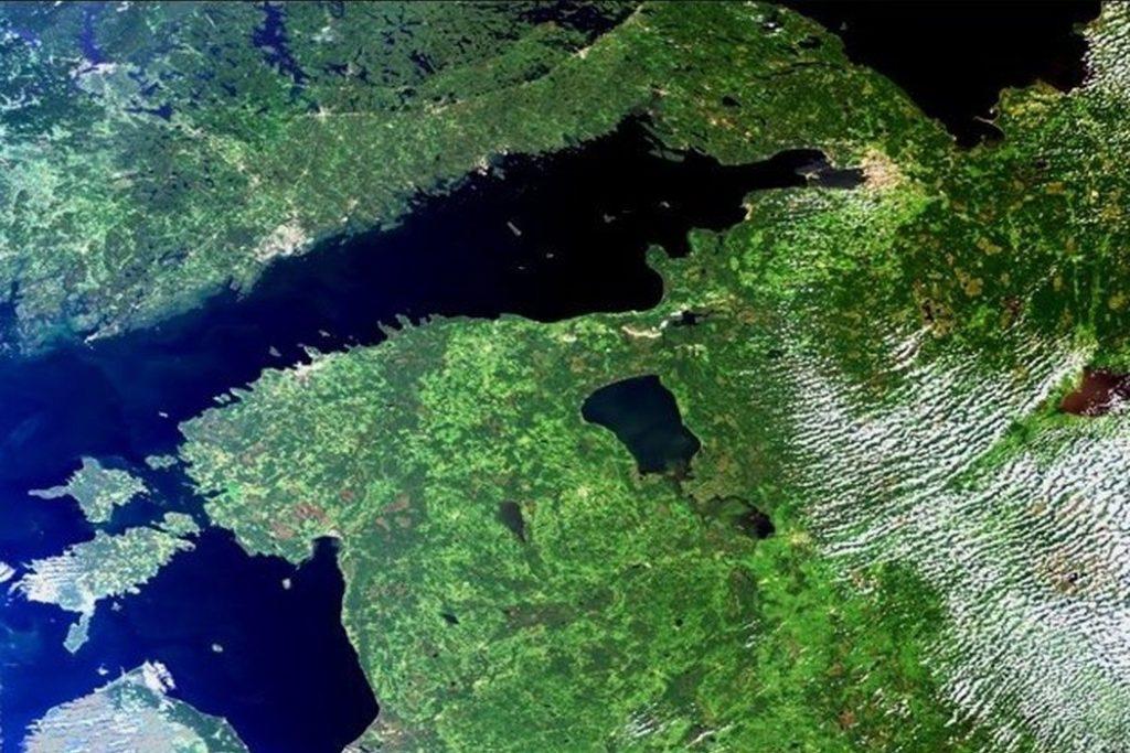 Финский залив. Вид из космоса.