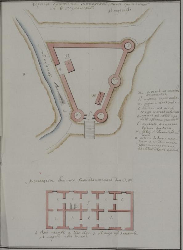 План Копорской крепости, составленный Ф.О. Туманским.