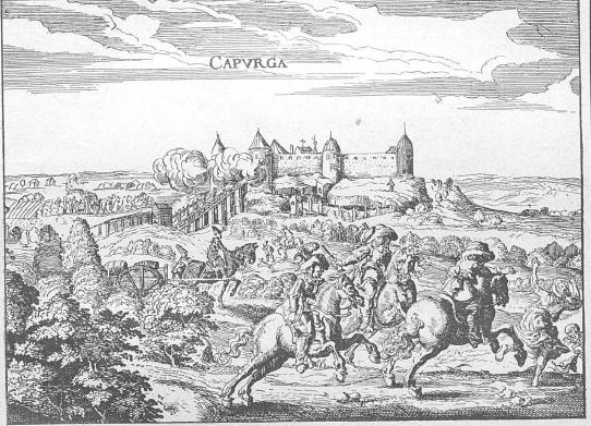 Копорская крепость. Гравюра из книги А. Олеария «Описание путешествия в Московию».