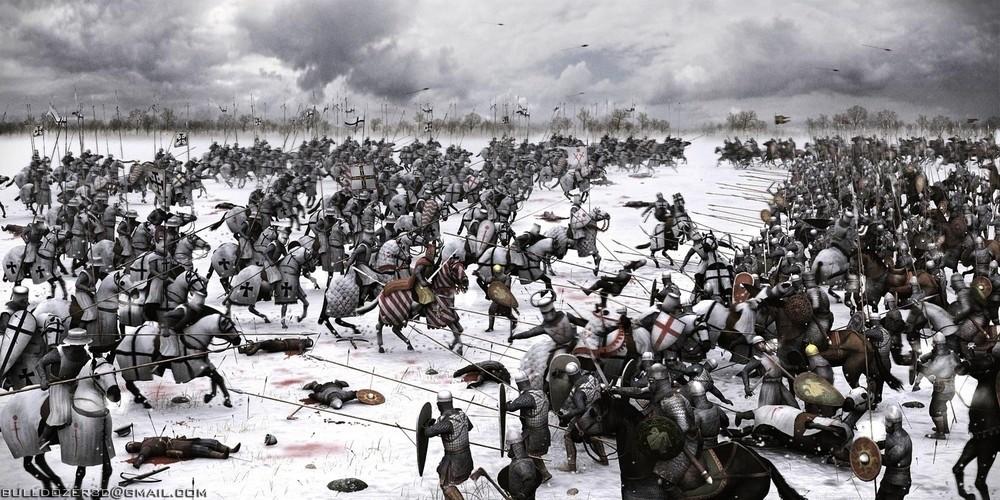 Ледовое побоище. 1242 год.