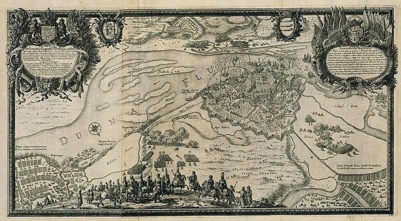 Осада Риги в 1656 году. Гравюра XVII века.