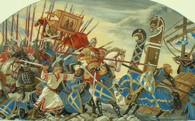 Битва со шведами. 1240 год.