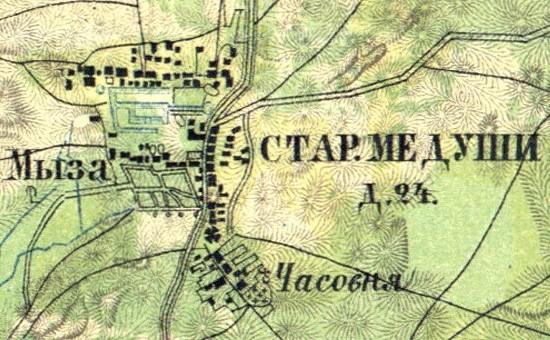 Усадьба в Медушах на карте