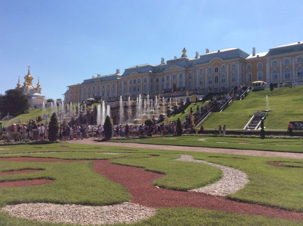 Ансамбль Большого Петергофского дворца. Нижний парк.