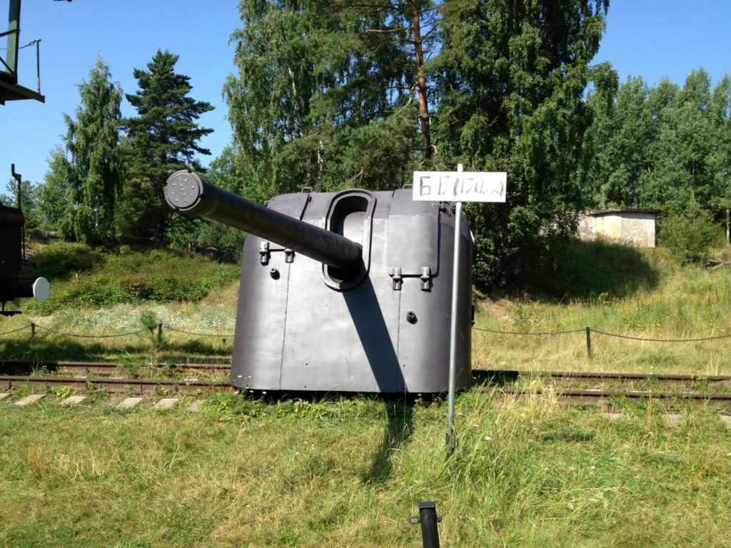 "130 мм корабельная пушка Б-13 на форте ""Красная Горка"""