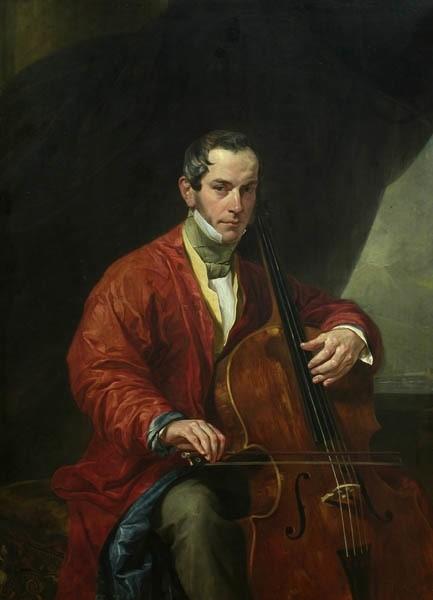К.П. Брюллов Портрет музыканта М. Виельегорского