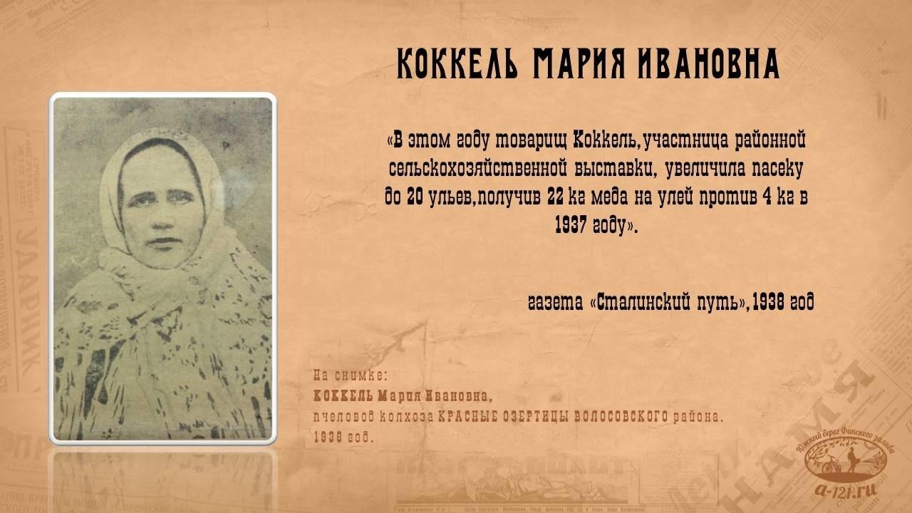 Коккель Мария Ивановна