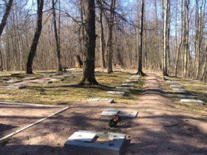 Аллея Гордовцев. Воинское кладбище. Ломоносов