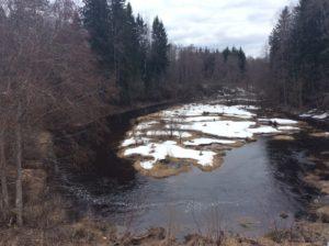 Течение реки Сума выше моста
