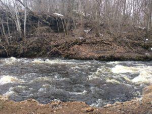 Течение реки Сума ниже моста