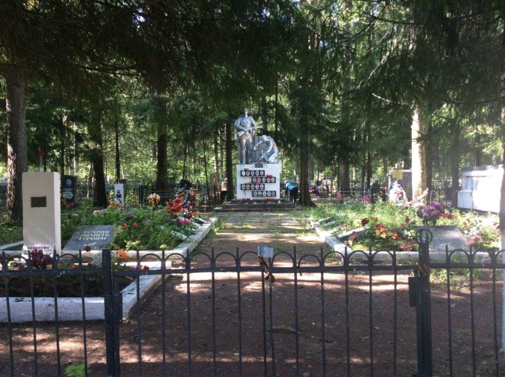 Лебяженское кладбище. Территория воинского мемориала
