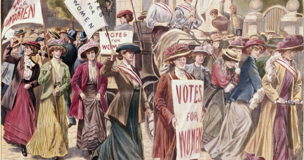 Демонстрация за права женщин в США