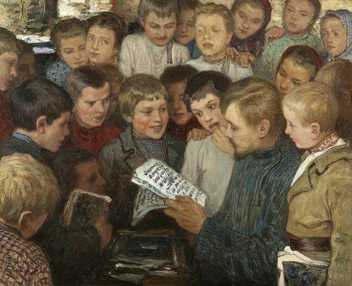 Н. П. Богданов-Бельский. Сельская школа