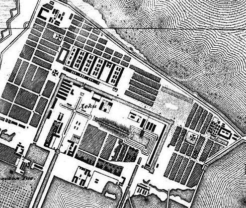 Фрагмент плана Кронштадта 1831 г.