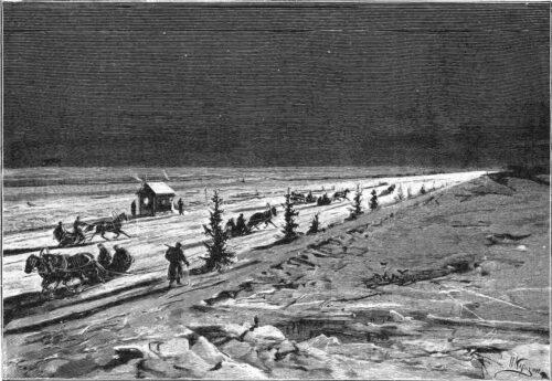 Кронштадтско- Ораниенбаумская железная дорога по льду Финского залива